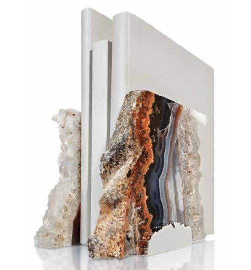Rablabs via Design Sponge. I am really loving all of these stone book ends.