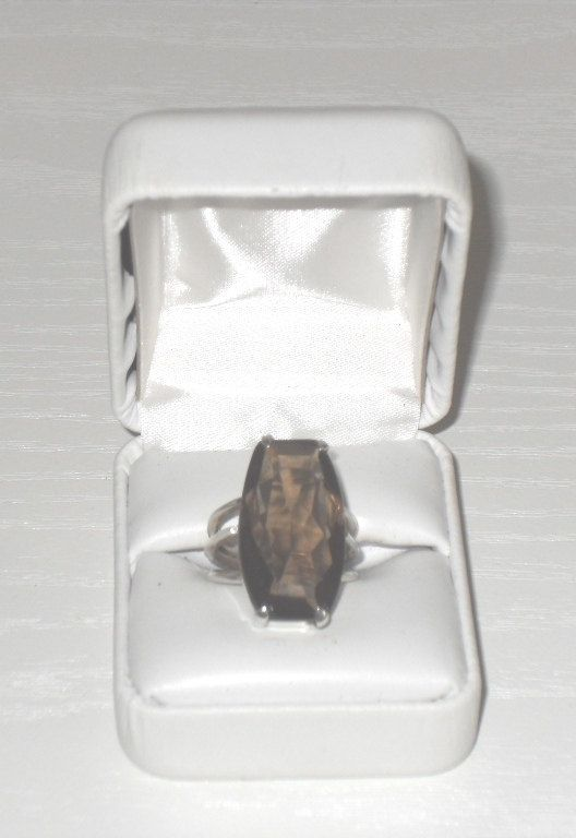 925 Sterling SILVER SMOKY QUARTZ Gem Set Ring  - Boxed / Jewelry / Ideal Gift / Present by AntiquesEtCetera13 on Etsy