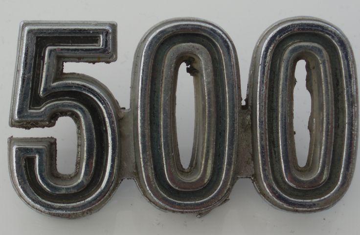 500 car badge