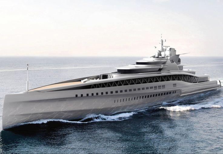 Amazing Yachts: Fincantieri Fortissimo Superyacht concept by Ken Freivokh Design