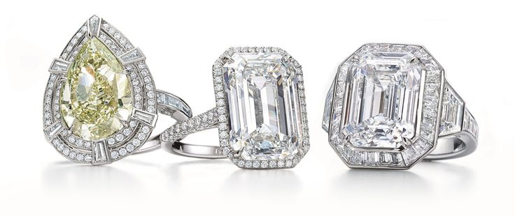 Tiffany & Co. ~  Blue Book 2016 collection diamond rings