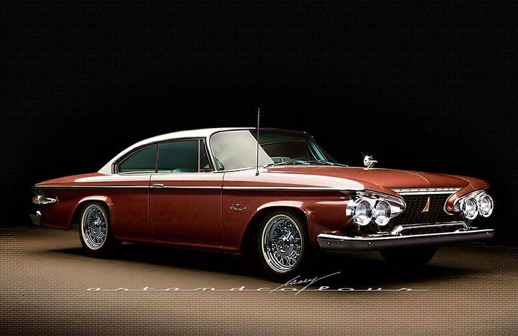 1961 Plymouth Fury design tweak c/o Casey's Art and Colour. This guy is gooood!