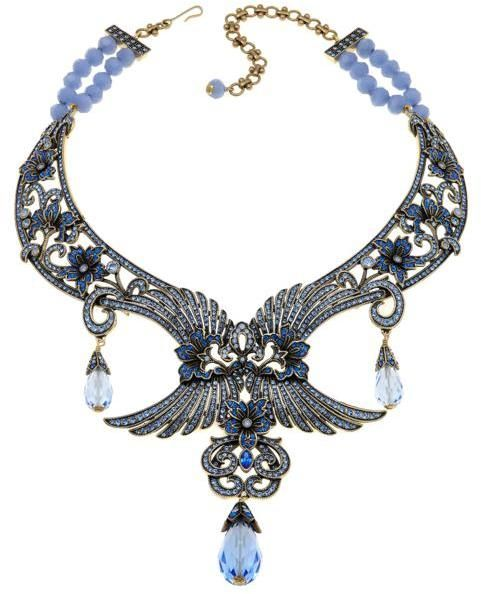 """Heidi Daus Disney's Beauty and the Beast """"Eternally Yours"""" Beaded Crystal Drop Necklace"""