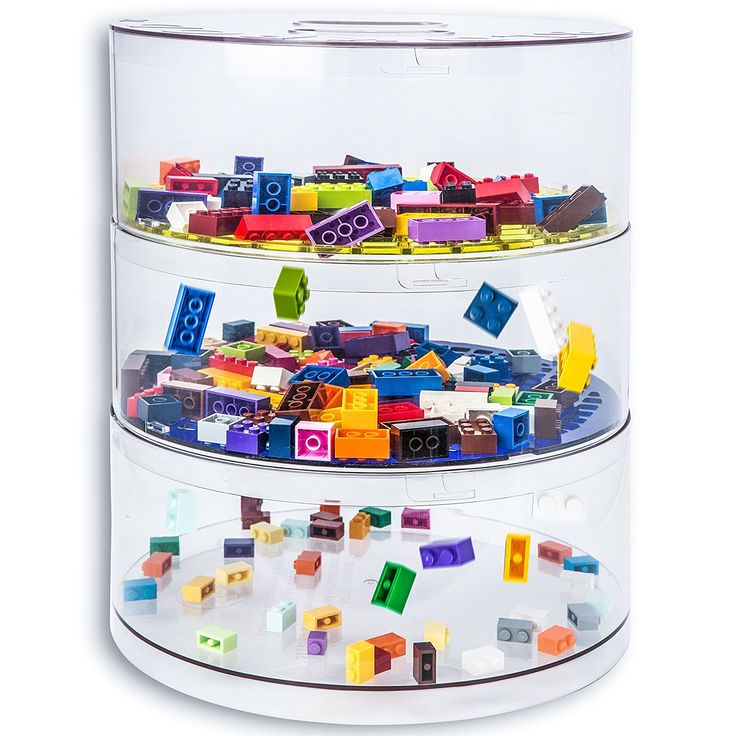 """Amazon.com: BLOKPOD • Toy & Lego Storage and Sorting Bins • Multipurpose Stackable Storage Solution • Large Capacity 13""""x10""""x10"""" • Transparent Box • 15 YEAR WARRANTY • 3 Tier: Home & Kitchen"""