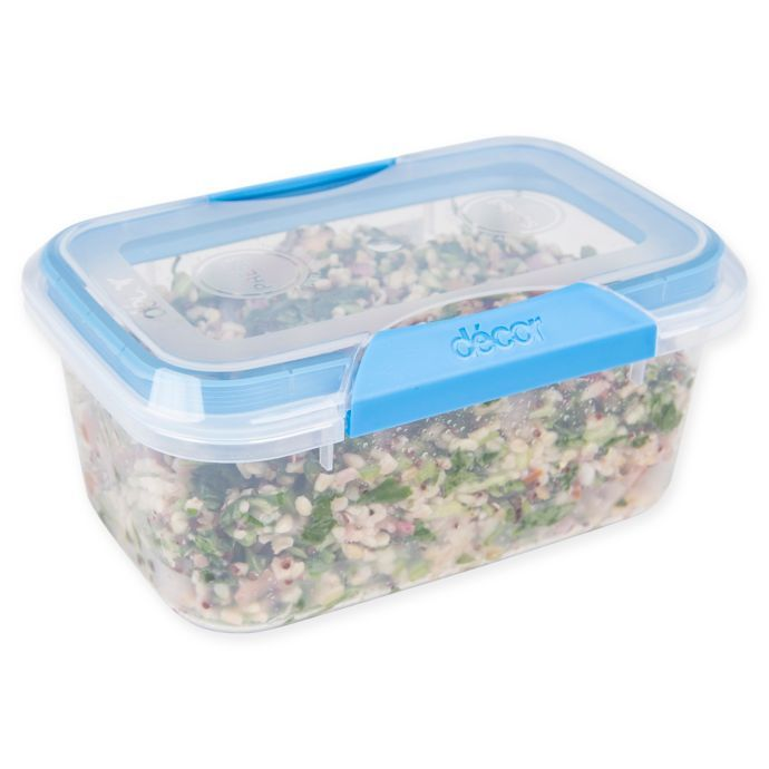 Decor Match Ups Clips 33 6 Oz Oblong Food Storage Container In Blue Bed Bath Beyond Food Storage Containers Food Storage Storage Containers
