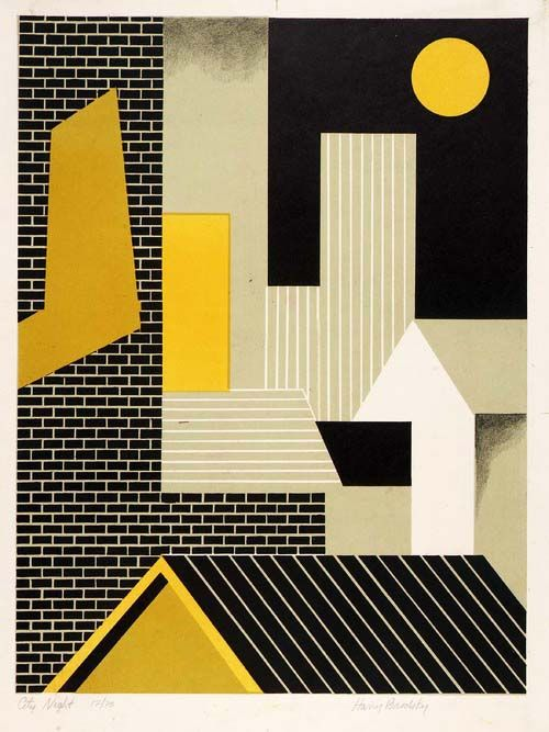 Harry Brodsky, City Night, 1940s. Smithsonian American Art Museum.