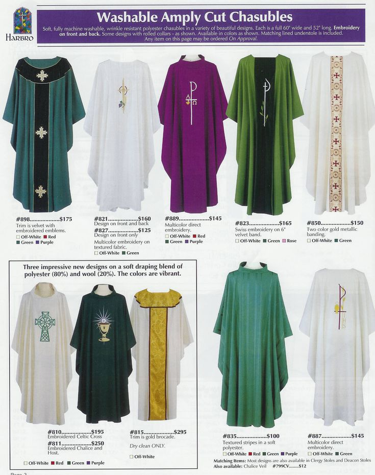 To view the Harbro catalog, click any of the following: Stoles, Page 1, Stoles, Page 2, Deacon's Dalmatics and Stoles, Chasubles, ...