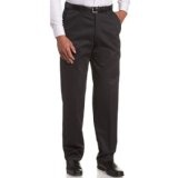 Haggar Men's Work To Weekend Expandable Waist Flat Front Twill Pant (Apparel)By Haggar