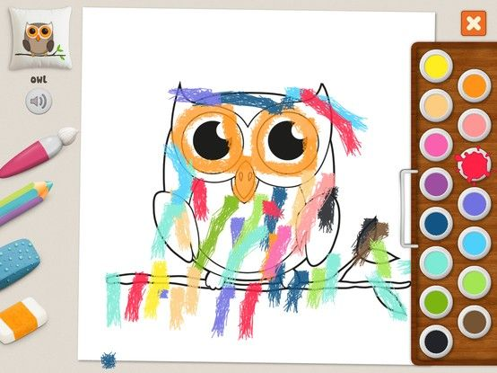 """Owl"" - Julia (age 5). #coloring #pages #memollow - #app for #kids"