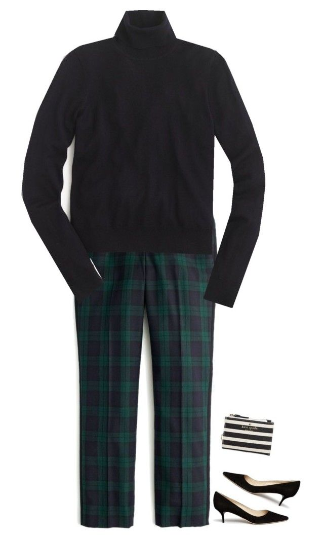 """""""I'm Plaid that it's Wednesday"""" by sc-prep-girl on Polyvore featuring J.Crew, Demylee, Jimmy Choo and Kate Spade"""