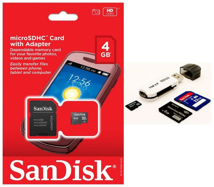 SanDisk 4GB MicroSD Micro SDHC TF Class 4 Memory Card For