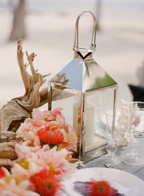 1592 best images about wedding centerpieces on pinterest for Driftwood table centerpieces