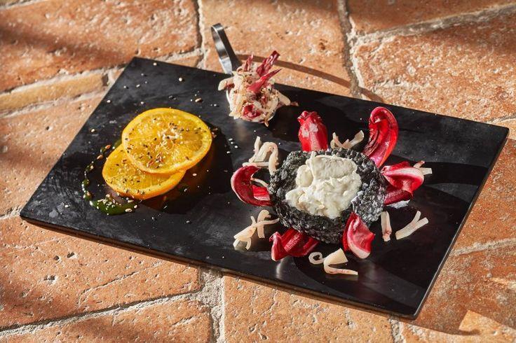 Risotto al nero di seppia e Radicchio rosso di Treviso IGP