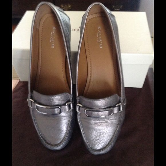 COACH PEWTER SHOES Coach Pewter Shoes- Preowned and in excellent condition Coach Shoes