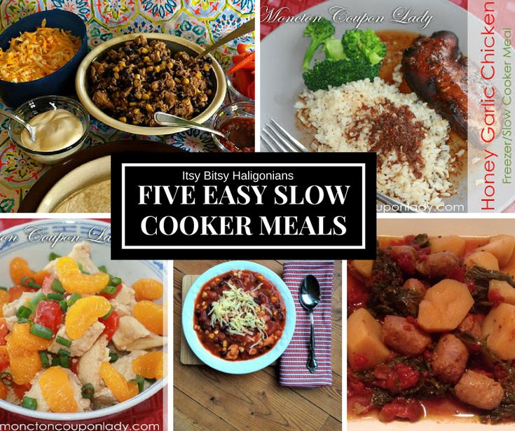 Five Easy Slow Cooker Meals To Save The Day. Delicious, easy, family friendly recipes from local bloggers.