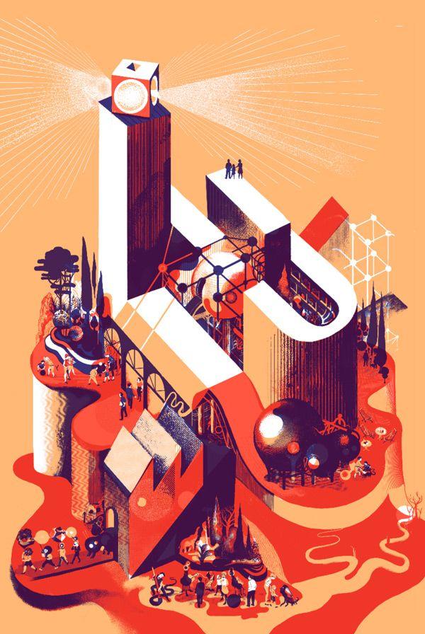 Raphael Urwiller. Affiche Communication 2012 du Lieu Unique