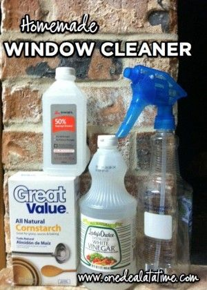 Homemade Window Cleaner - 2 recipes of ingredients most households already have