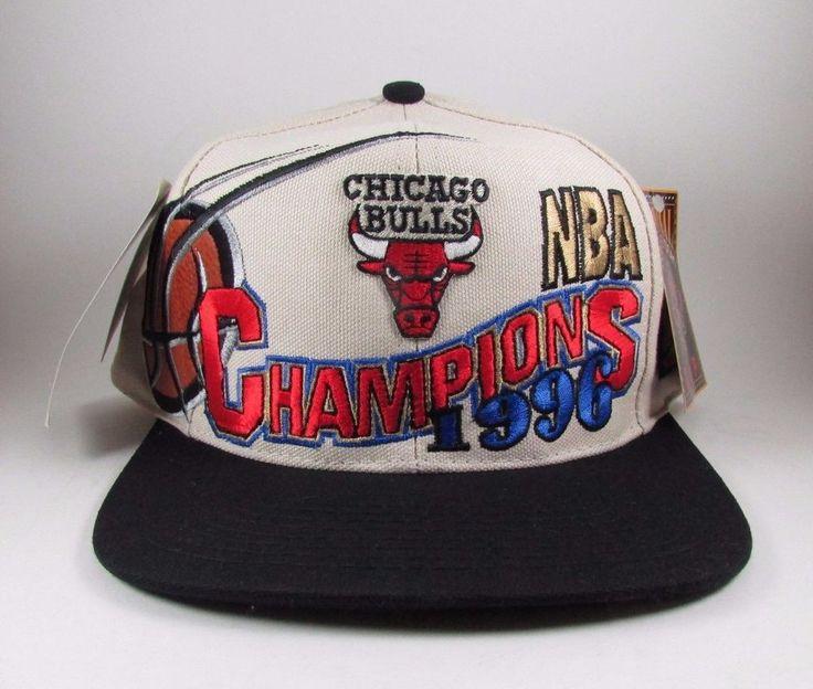 Chicago Bulls 1996 Championship Snapback Hat NBA NEW WITH TAGS #Logo7 # ChicagoBulls