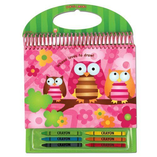 Stephen Joseph Owl Sketch Pad by Stephen Joseph. $9.99. 100 pages. Includes 6 crayons. Resealable crayon pouch. From the Manufacturer                Each sketch pad comes with six crayons and easy carry handle. Includes 100 pages and resealable crayon pouch for endless creativity. Hard backing makes it easy to use as a lapdesk.                                    Product Description                Make activity time easy with our new Sketch Pads! Each Sketch Pad comes with six cr...