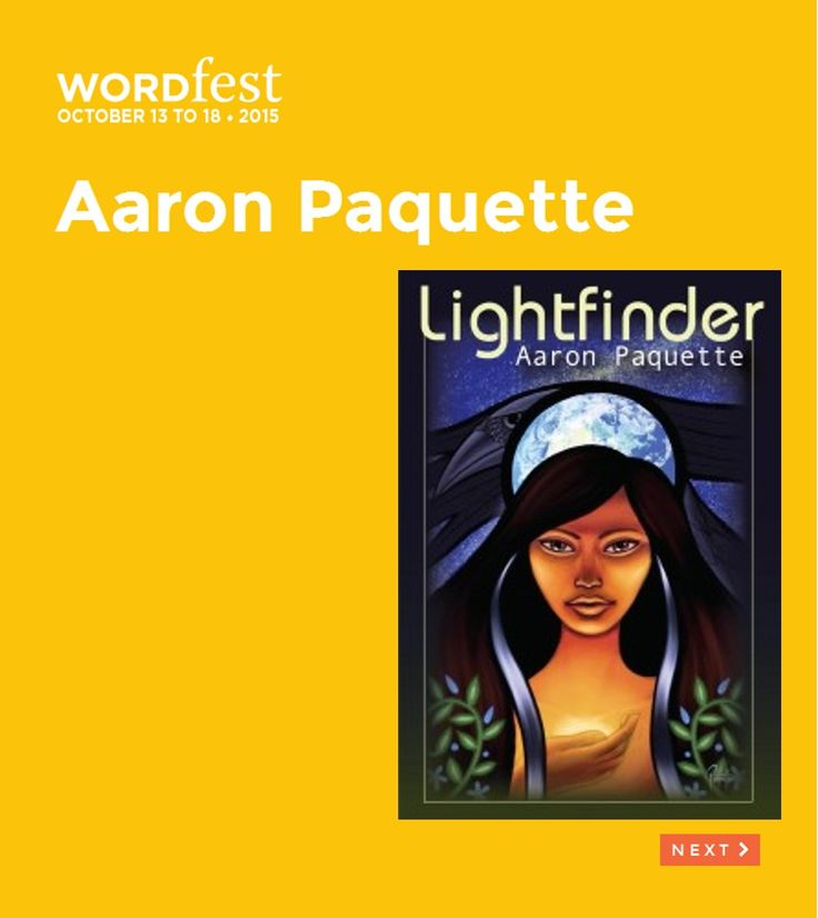 Wordfest Youth 2015: ENGLISH - GRADE 5+ - Aaron Paquette is one of Canada's premiere First Nations artists. He is a painter, writer, keynote speaker and workshop facilitator. He is also a political commentator, illustrator, goldsmith and cathedral stained glass artist.  Lightfinder is a YA fantasy novel about Aisling, a young Cree woman who sets out into the wilderness to find and rescue her runaway younger brother. Read More at http://wordfest.com/artists/youth-authors/aaron-paquette?cid=7