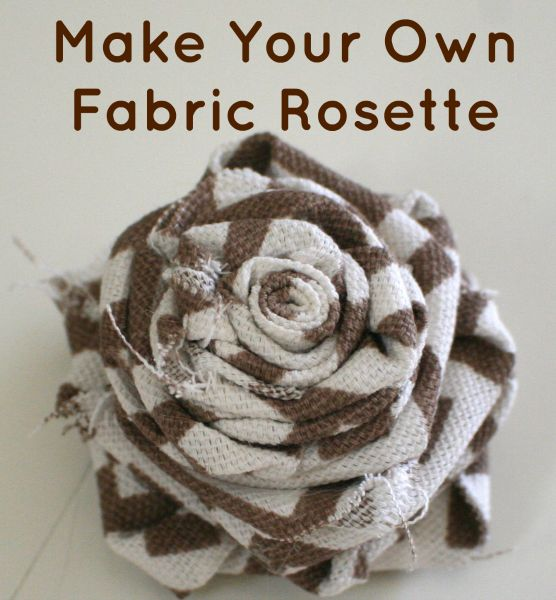 Make Fabric Rosette - she makes it look so easy -love the fabric flowers that are showing up everywhere!