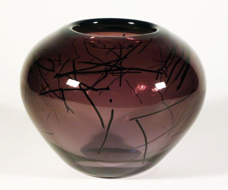 Lubomir Blecha, hairy glass bowl, 1963, H: 12,0 cm, D: 15,0 cm, Pattern Id: 6333, UUR Prague, glassworks Skrdlovice, Czechoslovakia
