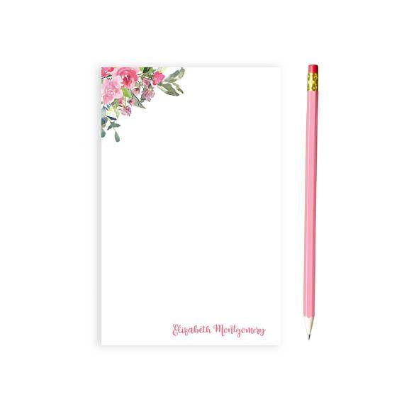 Custom Notepad Personalized Custom Stationery Bridal