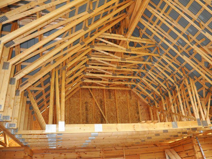 Ferme de toit recherche google structures de bois pinterest ferme garage et bois Toit mansarde bardage bois