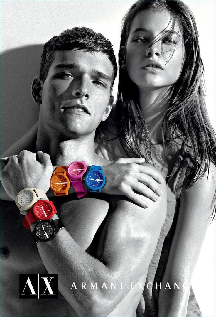 Alex Cunha and Barbara Palvin in A|X Armani Exchange's summer 2012 campaign photographed by Matthew Scrivens.