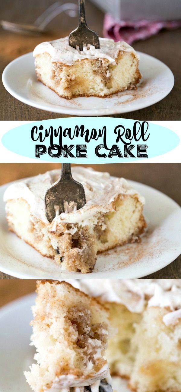 Cinnamon Roll Poke Cake - try this mouth watering recipe, something the whole family will enjoy!