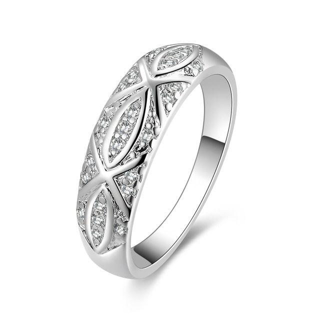 Высокое качество посеребренные и штампованные 925 для женщин среднего широкий орнамент для девочек обручальное кольцо палец кольца оптовая продажа