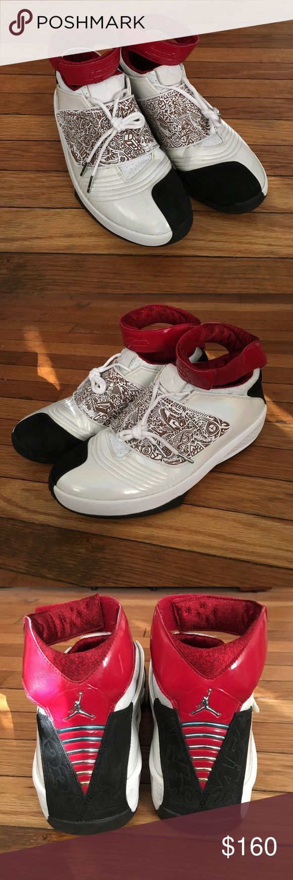 MEN'S AIR JORDAN XX Size: 12, air jordan 20s that have been worn a few times over the years and are in 9/10 condition, come with replacement box. Two marks on the inside of the right shoe but other than that, great condition for its age! Serious inquiries but no lowballing! Tags: air jordan 20, jordan xx, vintage, retro, nike, jordan, nmd, yeezy, adidas, polo, ralph lauren, polo jeans, supreme. Jordan Shoes Sneakers