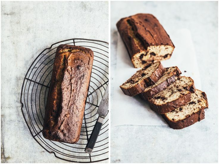 Banankage med kanel & mørk chokolade
