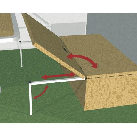 "Incorporate slide into the platform instead of using the pegs to support the flip out portion of the platform - eliminates the awkward ""footers"" sticking up in the cargo area when the platform is open"