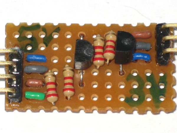 Stripboard I2C Logic Level Converter