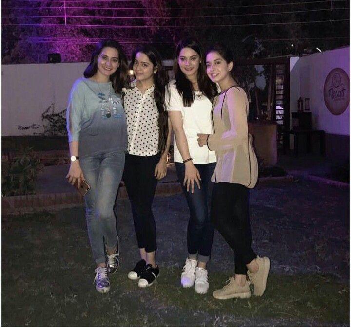 Girls Party!  Aiman Khan, Sarah Razi, Minal Khan and Arisha Razi!