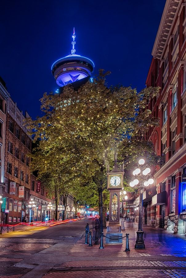 Gastown Night (Vancouver, BC) by Alexander Hill / 500px