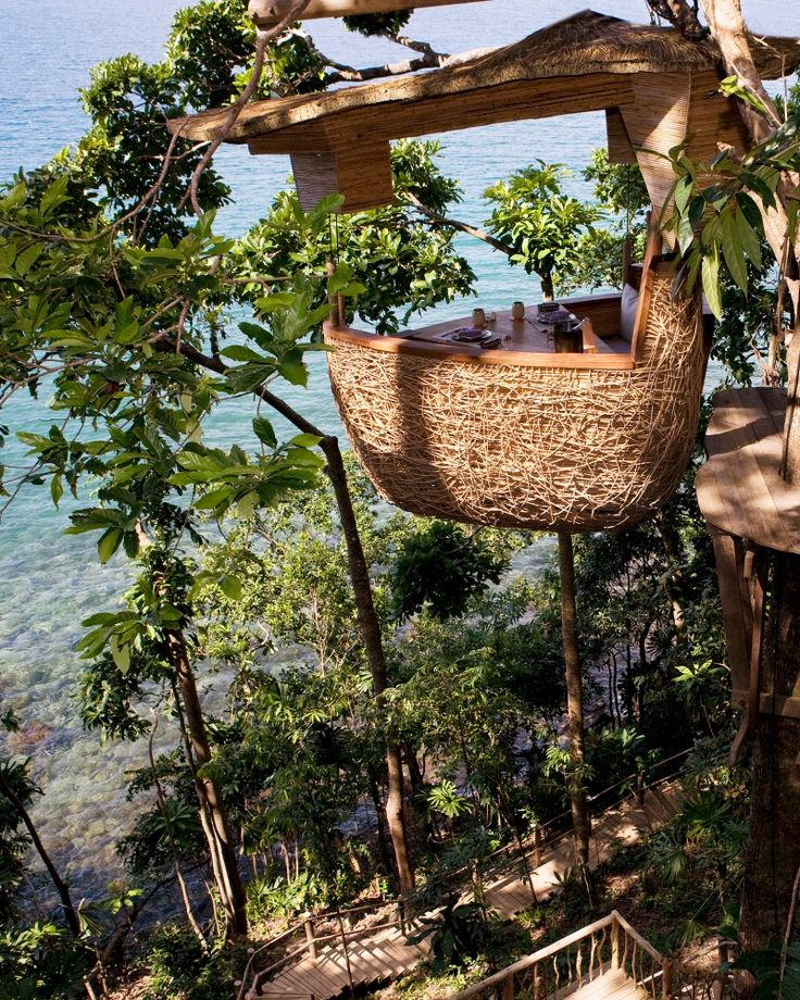 Treehouse dining in Koh Kood, Thailand. (Don't miss the amazing waterfall if you go there!!)