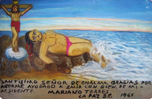 Господь Чалмский, благодарю тебя, что помог мне выжить во время несчастного случая.    Мариано Торрес.  Ла-Пас, Нижняя Калифорния, 1964.