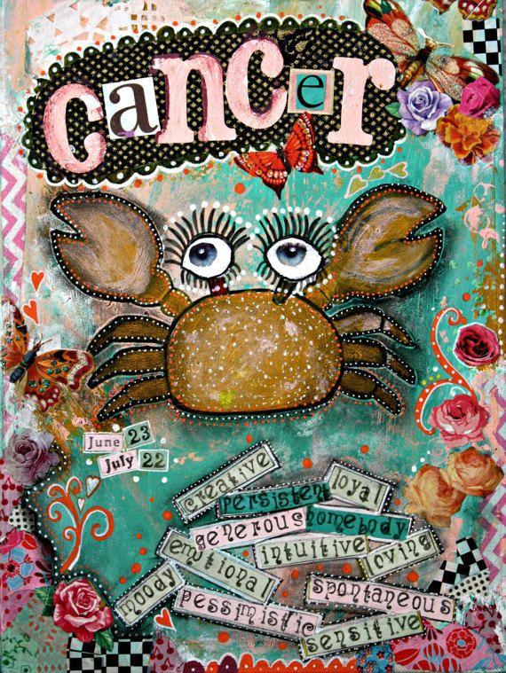 Cancer art Cancer zodiac sign zodiac art zodiac by ThisRosyLife