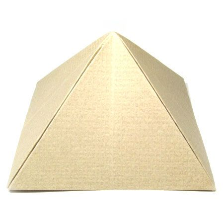 how to make a paper pyramid box