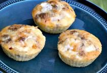These mini omelette muffins will make the whole family rethink omelettes and are stuffed with cheese, onions, and sausage. Perfect for those busy, on-the-go mornings.