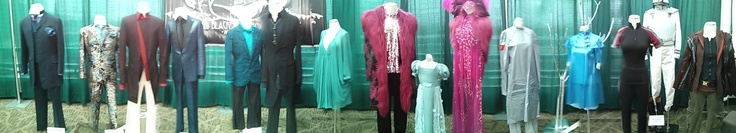 The Hunger Games costume exhibit at the Emerald City ComicCon. These are the actual costumes worn in the movie.