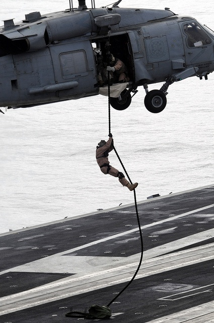 """HH-60H Sea Hawk hleicopter assigned to the """"Black Knights"""" of Helicopter Anti-Submarine Squadron (HS) 4"""