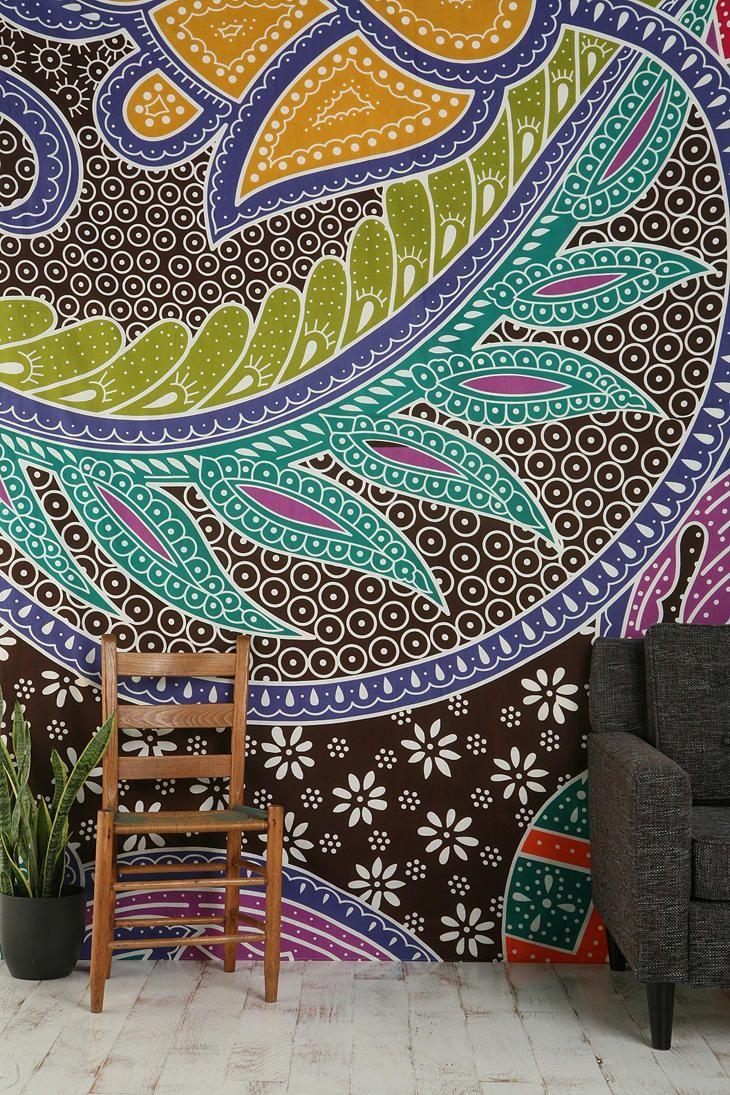Super pretty Batik Galaxy Tapestry - would make very pretty curtains as seen on @ChrisLovesJulia!