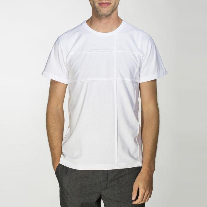 triko FOLD bílé
