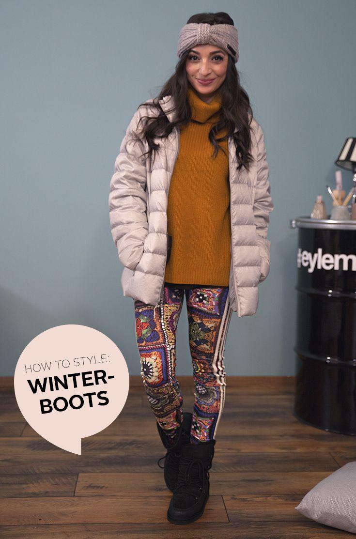 """These boots are made for winter: Ihr wollt auf neuen Sohlen in die kalte Jahreszeit starten? Aber die Boots Eurer Wahl sollen nicht nur super kuschelig und richtig schön warm, sondern auch alltagstauglich sein und natürlich zu Eurem Outfit-Styling passen? Kein Problem: Eylem zeigt euch im neuen refashion-Video ihre Lieblingslooks zum Thema """"Coole Boots & Heiße Outfits""""!"""