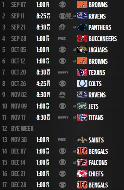 pittsburgh steelers schedule 2014 printable | Analysis: Pittsburgh Steelers' 2014 schedule