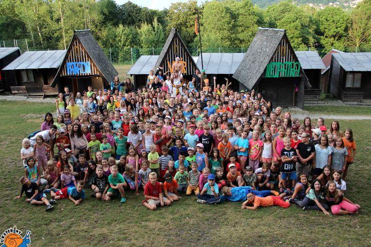 """Celý tábor ♥♥♥  """"Ten pocit, když se za 2 týdny z neznámých lidí, stane tvoje 2. rodina."""""""