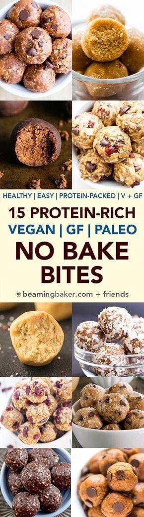 15 Healthy Protein-Packed No Bake Energy Bite Recipes (Gluten Free, Vegan, Paleo, Dairy-Free) - Beaming Baker